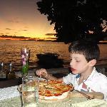 Leonardo con la sua pizza