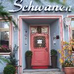 Entrance to the Hotel-Gasthof Schwanen