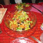 Our yummy Salad (half eaten..oops)