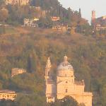 San Biaggio and Montepulciano fro the terrace