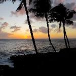 Sunset from our lanai, Christmas 2011