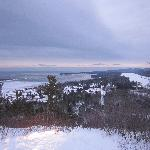 Daybreak at Copper Harbor from the lookout.