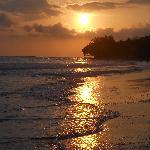 Sunset from beachfront.