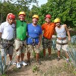 Getting ready for the longest zip line. FUN!