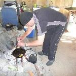 Joe making breakfast, yummie!!