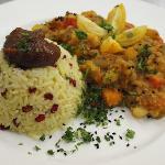 Indish & oriental influences on the menu