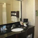 spacious bathroom with two sinks