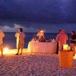 Evening drinks on the beach