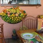 fruit storage inside the restaurant