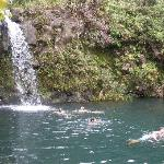 Waterfall and pool at Pua'a Ka'a State Park