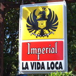 The sign out front of La Vida Loca