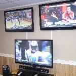 The 3 HDTV's in the Sports Room