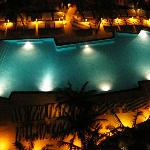 Pool at night from our balcony