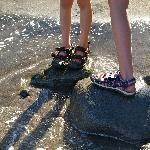 Kids enjoying the warm water