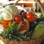 Organic vegetables at Zabuco