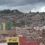 Cusco desde la ventana del hotel
