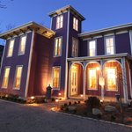 Shown at twilight, Wells House Bed and Breakfast glows with the warmth and comfort