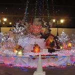 玄関前クリスマスのイルミネーション