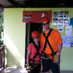 Ready for the zip line!