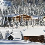 Esterno della struttura in inverno
