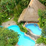 arial of pools