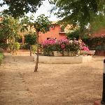 Square outside villa