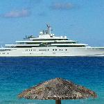 You might just see the world's largest private yacht right in front - the Eclispe - all 1.12 bil