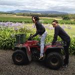Josh and I at Punt Road Winery