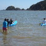 Enjoying the kayaks