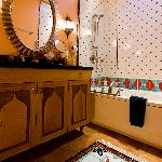 Mediterranean Bath tile art