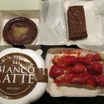 Princi desserts go perfectly with Bianco Latte gelato!