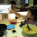 Order food on touch screen