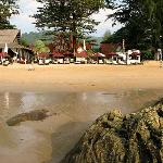 Beach front of hotel