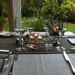 Divine dining at Villa Exner... Sabine's food will tickle your tastebuds!