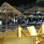 Beach bar at night