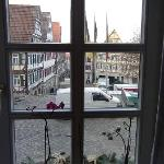 View of the Marktplatz from the kitchen