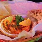 Baked garlic shrimps