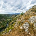 Knin Fortress: view over the Krka River