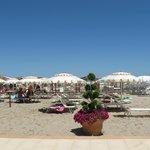 La spiaggia di Riccione :sabbia fine
