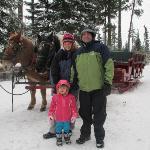 Family sleigh ride...