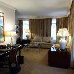 Corner Suite's Spacious Living Room