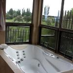 spa tub in treehouse