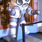 Atmospheric diving suit called JIM.
