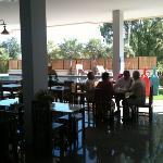 breakfast restaurant overlooking pool