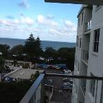 view to ocean from balcony