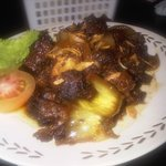 Fried oxtail