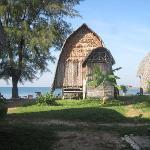 Blick aus der Bambushütte