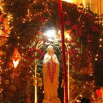 Beautiful grotto in the church premises