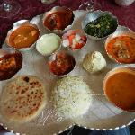 Colourful thali.