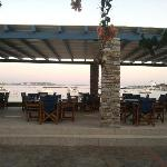 The new veranda at Kouros Village restaurant